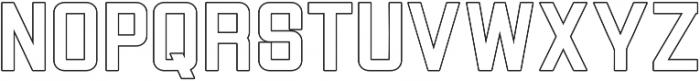 Vogue ExtraBold Outline otf (700) Font LOWERCASE