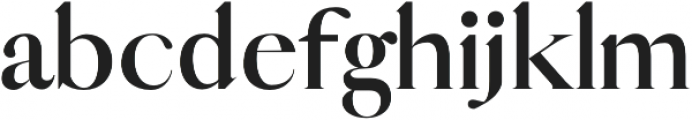 Vogue bold otf (700) Font LOWERCASE