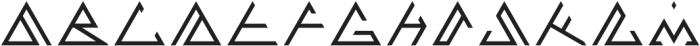 Volcano Regular otf (400) Font UPPERCASE