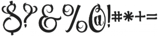 Volcano otf (400) Font OTHER CHARS