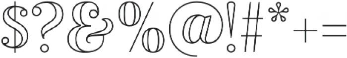 Vourla Contrast Outline otf (400) Font OTHER CHARS
