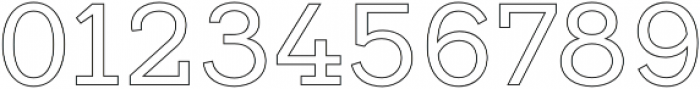 Vourla Serif Outline otf (400) Font OTHER CHARS