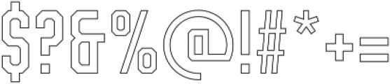 Vourla Square Outline otf (400) Font OTHER CHARS