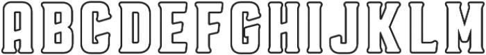 Voyager Regular otf (400) Font UPPERCASE