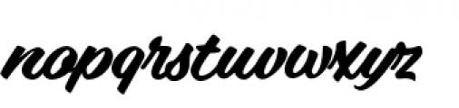 Vodka Brush Bold Font LOWERCASE