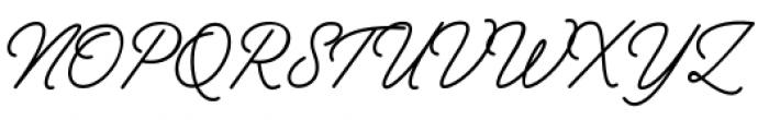 Vodka Pen Regular Font UPPERCASE