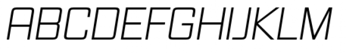 Vox Pro Light Italic Font UPPERCASE