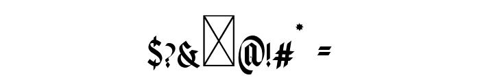 Volantis Regular Font OTHER CHARS