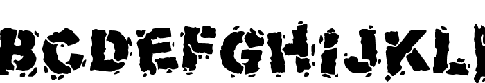 Volcanic Dungeon Font UPPERCASE