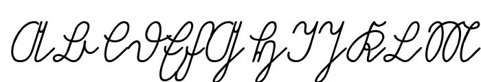 Volk Redis Italic Font UPPERCASE