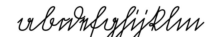 Volk Redis Italic Font LOWERCASE