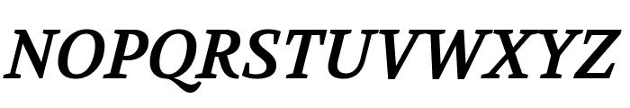 Volkhov Bold Italic Font UPPERCASE