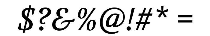 Volkhov-Italic Font OTHER CHARS