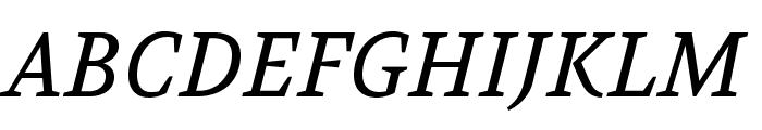 Volkhov-Italic Font UPPERCASE