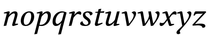Volkhov-Italic Font LOWERCASE