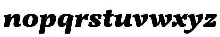 Vollkorn Black Italic Font LOWERCASE