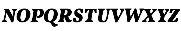 Vollkorn Bold Italic Font UPPERCASE