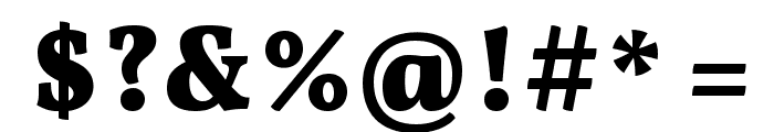 Vollkorn Bold Font OTHER CHARS