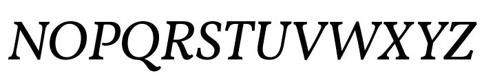 Vollkorn Italic Font UPPERCASE