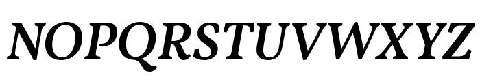 Vollkorn Medium Italic Font UPPERCASE