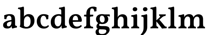 Vollkorn Medium Font LOWERCASE