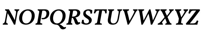 Vollkorn SemiBold Italic Font UPPERCASE