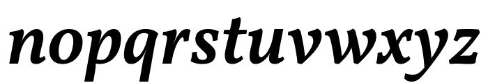 Vollkorn SemiBold Italic Font LOWERCASE