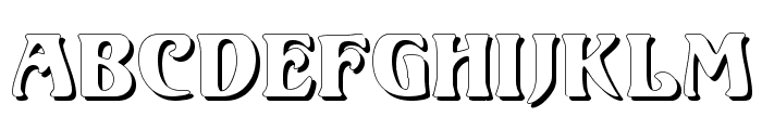 Volute Shadow Font LOWERCASE