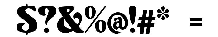 Volute Font OTHER CHARS
