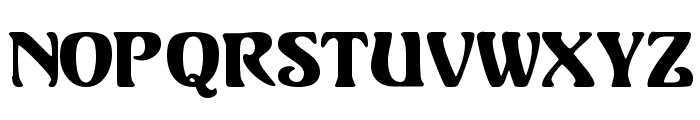Volute Font LOWERCASE