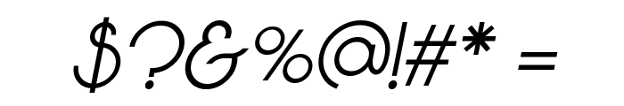 Vonique 64 Italic Font OTHER CHARS