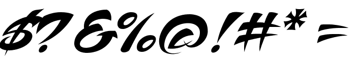 Voodoo Script Font OTHER CHARS