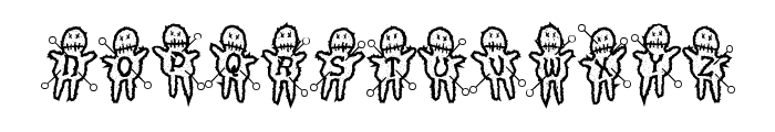 VoodooDollsPinned Font LOWERCASE