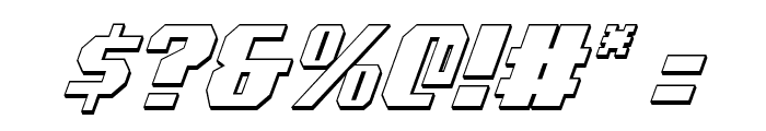 Voortrekker 3D Condensed Italic Font OTHER CHARS