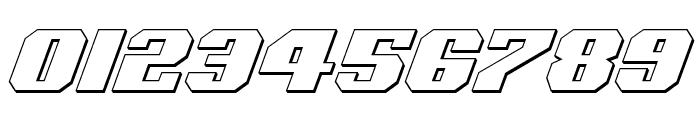 Voortrekker 3D Italic Font OTHER CHARS