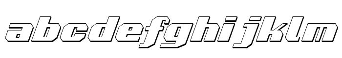 Voortrekker 3D Italic Font LOWERCASE