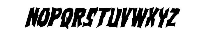 Vorvolaka Condensed Italic Font UPPERCASE