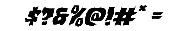 Vorvolaka Expanded Italic Font OTHER CHARS