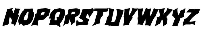 Vorvolaka Expanded Italic Font LOWERCASE