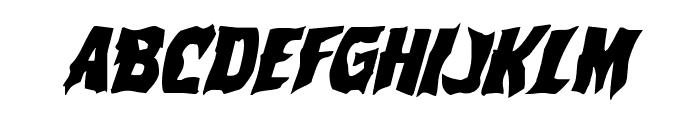 Vorvolaka Italic Font UPPERCASE