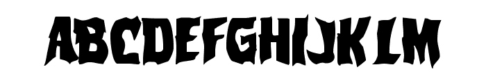 Vorvolaka Staggered Font UPPERCASE