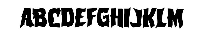 Vorvolaka Staggered Font LOWERCASE
