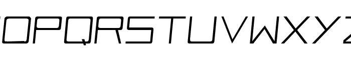 Vox-Slanted Font UPPERCASE