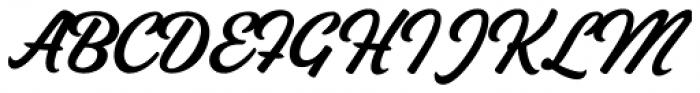 Vodka Brush Regular Font UPPERCASE