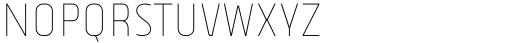Vogie Thin Narrow Font UPPERCASE