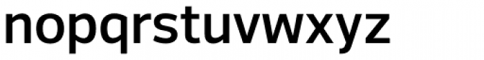 Voice SemiBold Font LOWERCASE