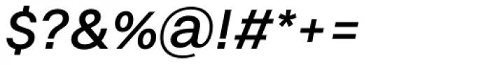 Volkart Medium Italic Font OTHER CHARS