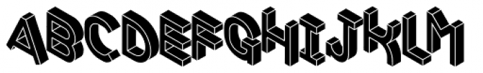 Volume Black Font UPPERCASE