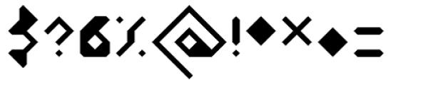 Vortex Light Font OTHER CHARS