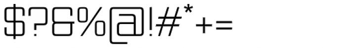 Vox Light Font OTHER CHARS